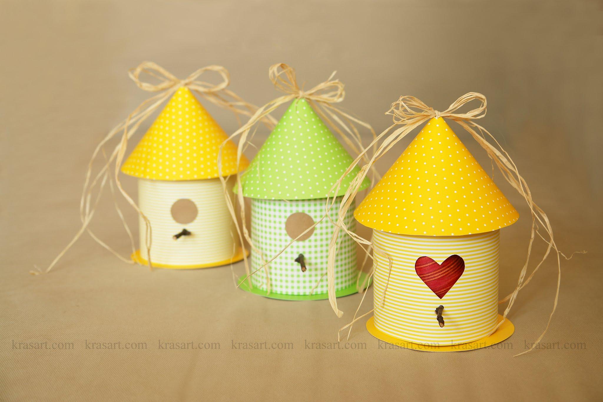 Хартиени къщички за птици