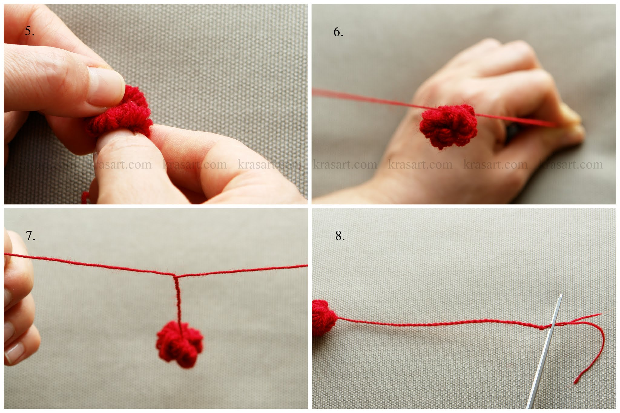 Как из нитки сделать бантик из