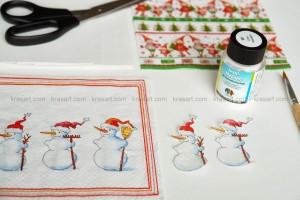 Коледни картички с декупаж